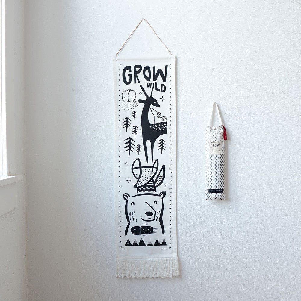 Grow Wild Organic Canvas Growth Chart - Woodland