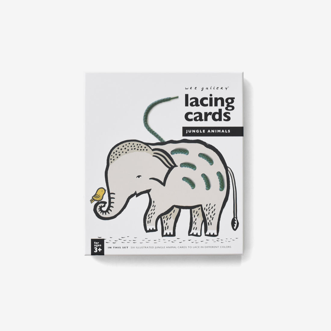 Lacing Cards - Jungle Animals