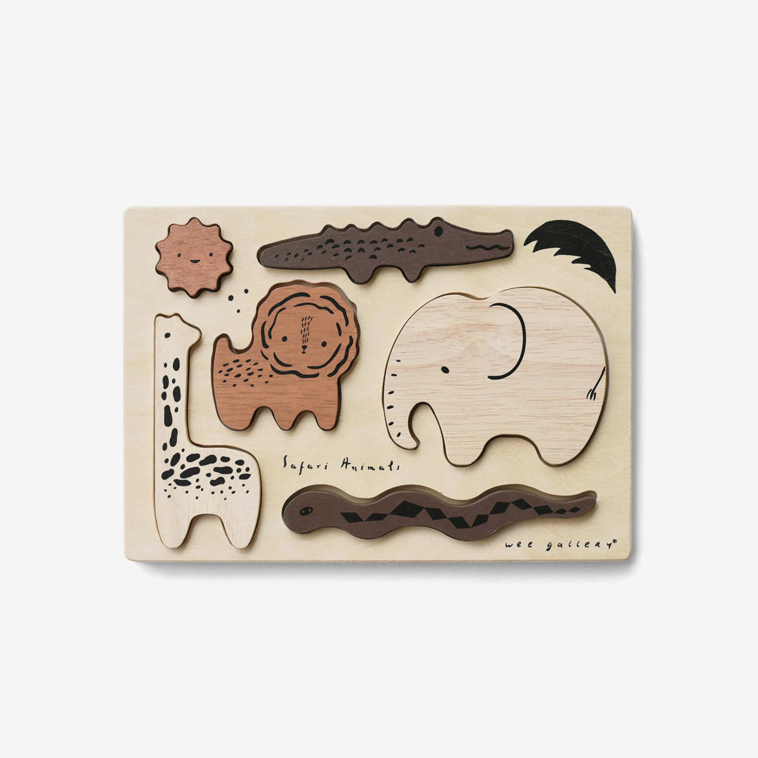 Wooden Tray Puzzle - Safari