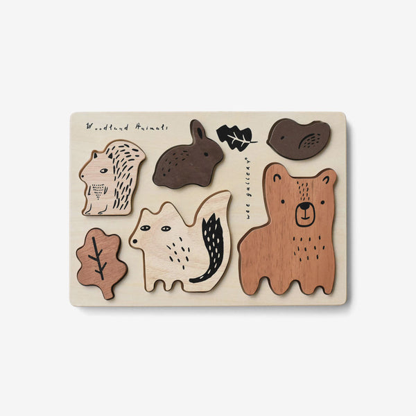 Wooden Tray Puzzle - Woodland