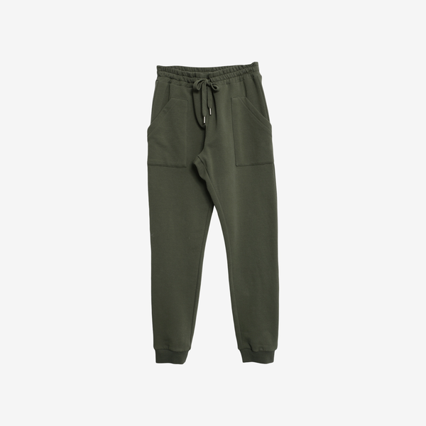 Cotton Fleece Sweatpants Nuno - Ivy