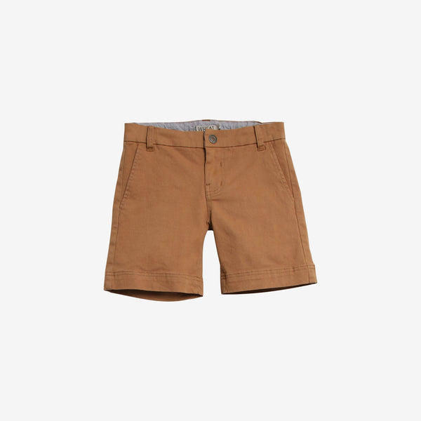 Ditmer Organic Woven Stretch Chino Shorts - Dark Camel