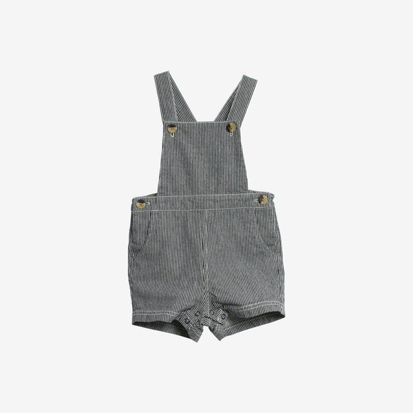 Erik Organic Woven Short Overall - Ink Stripe