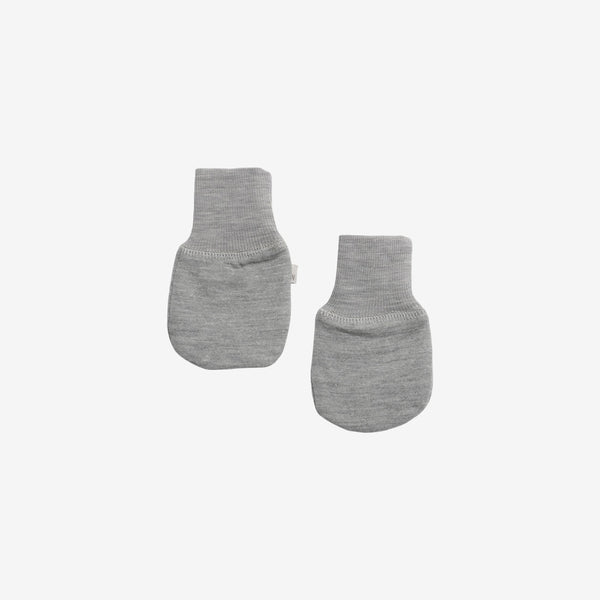 Organic Cotton & Merino Wool Mittens - Grey Heather