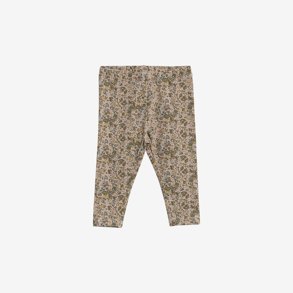 Organic Jersey Leggings - Fawn Flowers