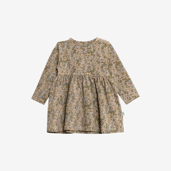 Organic Jersey Otilde Dress - Fawn Flowers