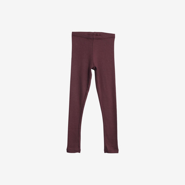 Organic Rib Leggings - Soft Eggplant