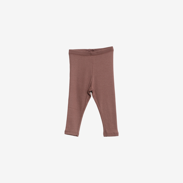 Organic Cotton Rib Leggings - Powder Plum