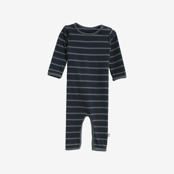 Theis Organic Stripe Jumpsuit - Stormy/Navy