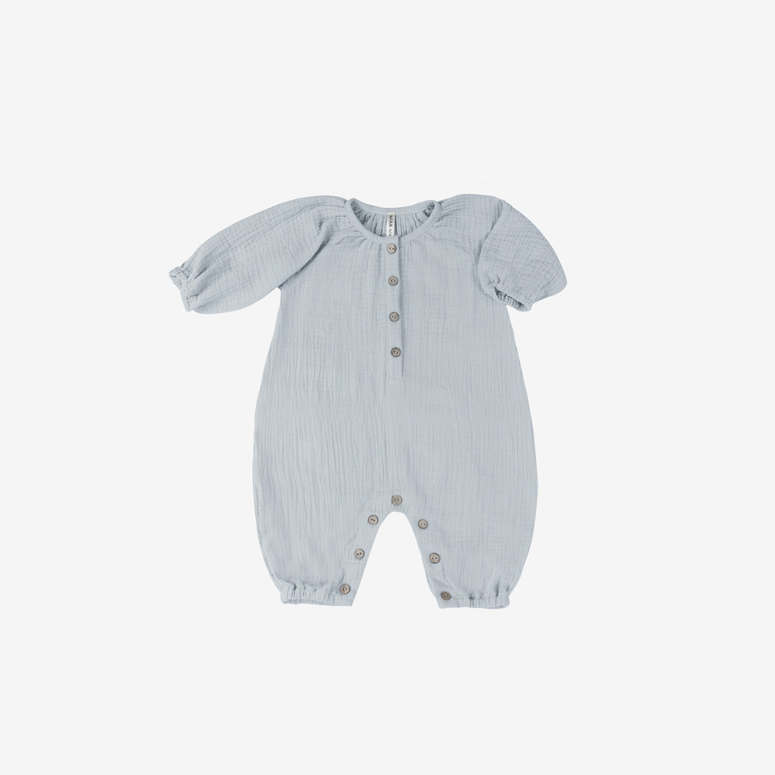 Pima Double Gauze Bubble Jumpsuit - Blue Fog