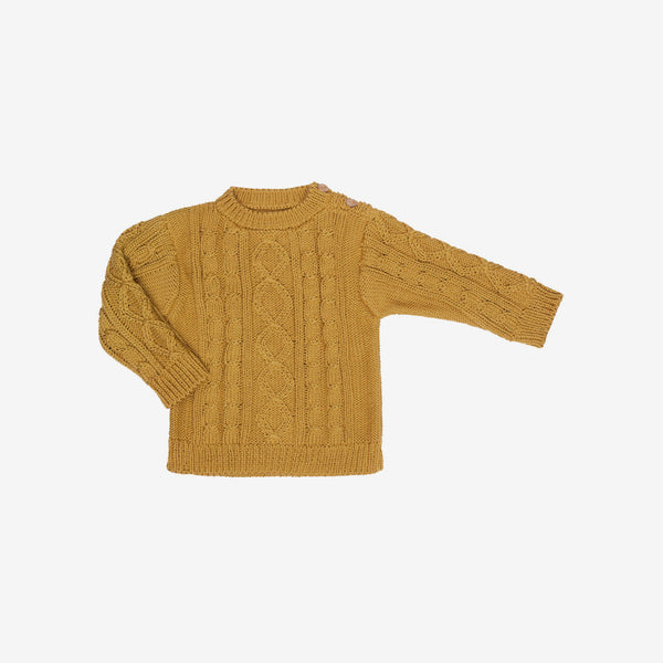 River Pima Cable Knit Sweater