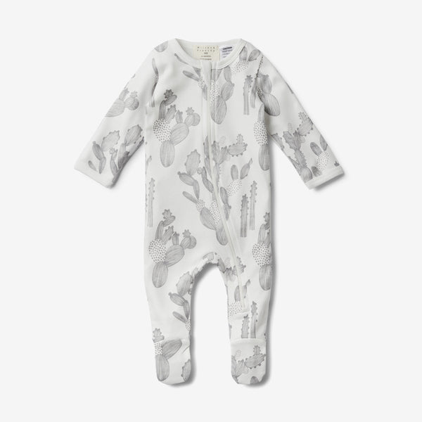 Zippy Organic Footed Romper - Cactus