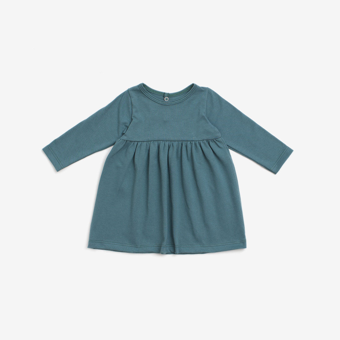 Geneva Organic Baby Dress - Teal