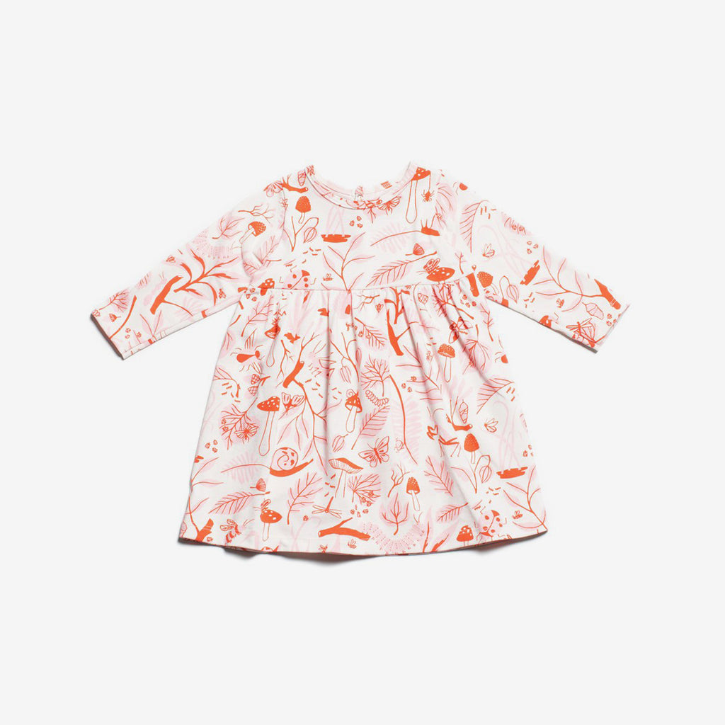 Geneva Organic Baby Dress - Leaf & Bug