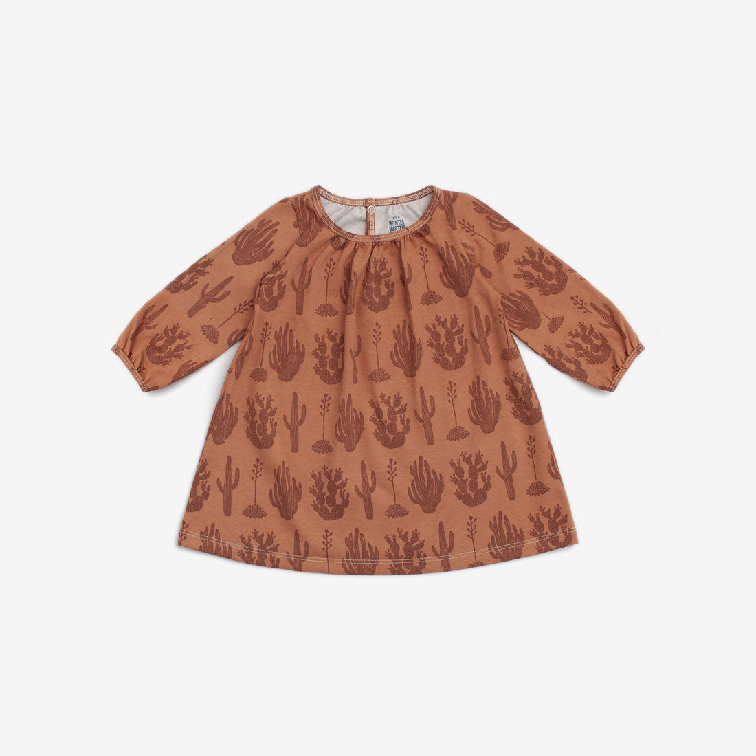 Juniper Organic Baby Dress - Caramel Cactus