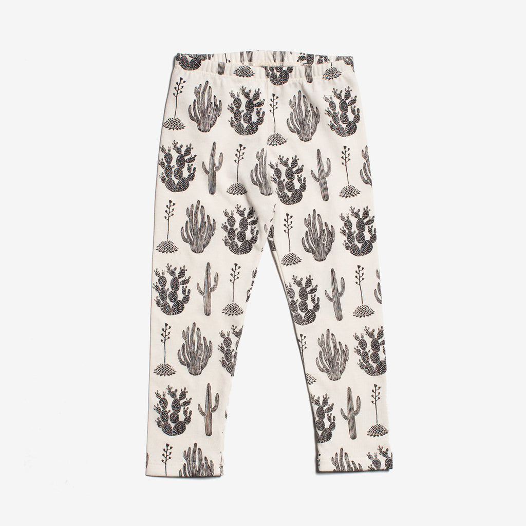 Cactus Organic Baby Leggings - Black