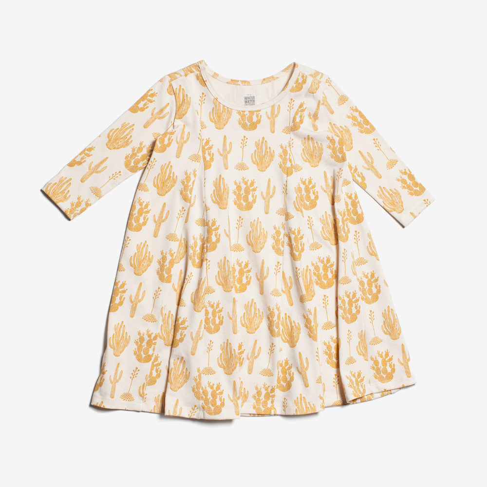 Mia Organic Dress - Gold Cactus