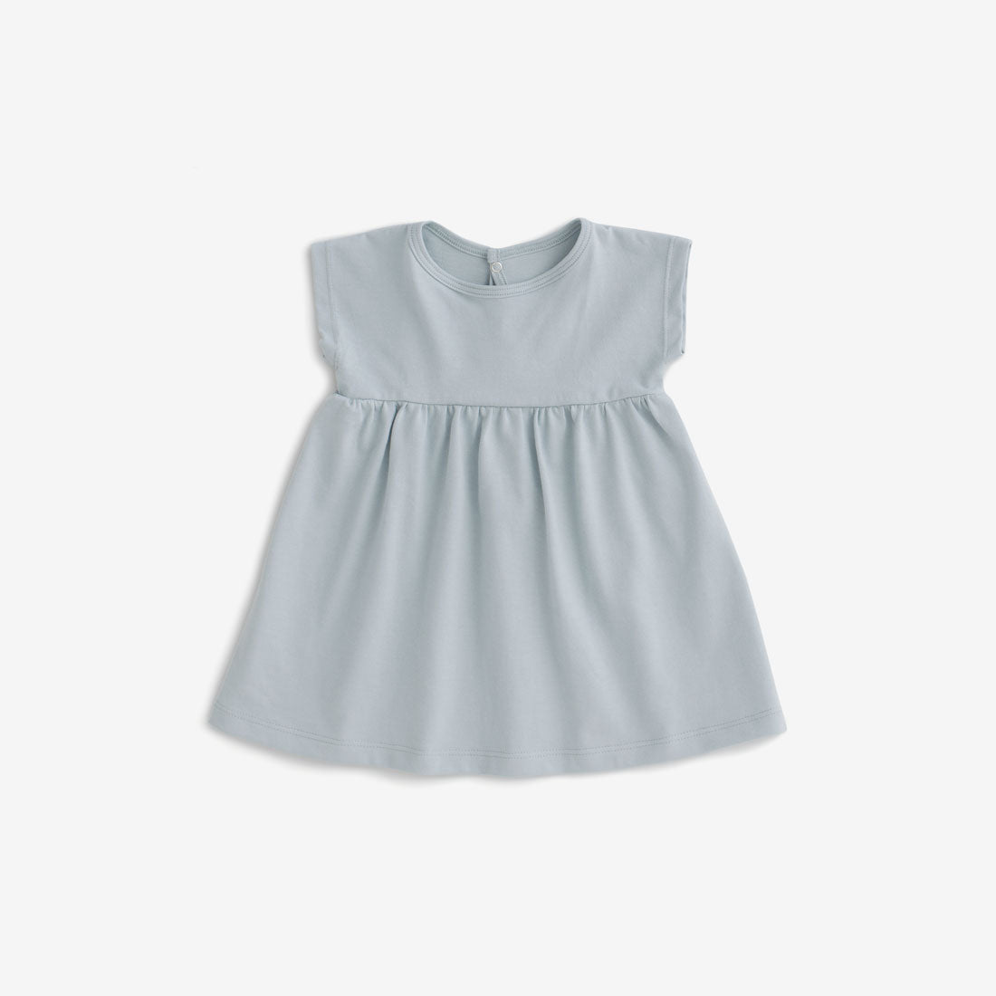 Merano Organic Jersey Baby Dress - Pale Blue