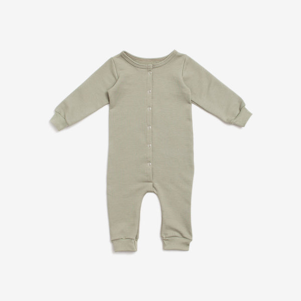 Organic French Terry Jumpsuit - Sage