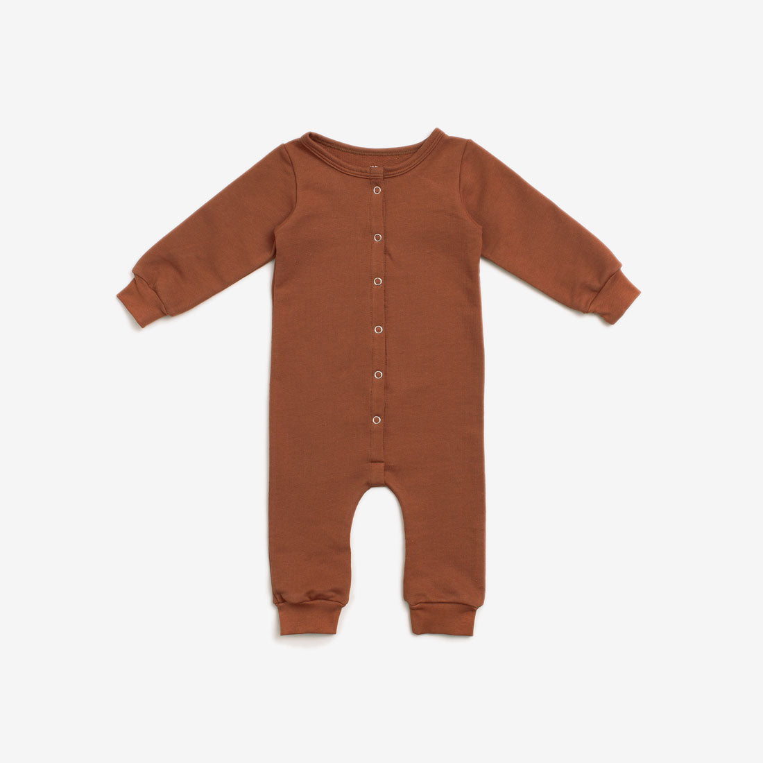 Organic French Terry Jumpsuit - Chestnut