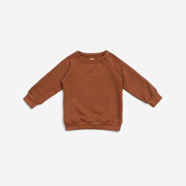 Organic French Terry Sweatshirt - Chestnut