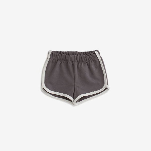 Organic French Terry Track Shorts - Charcoal