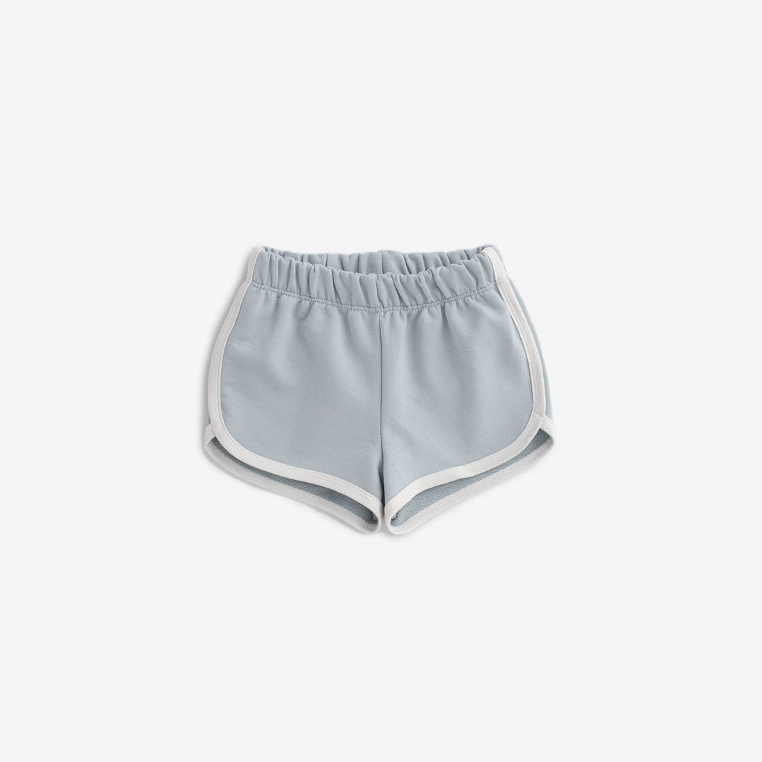 Organic French Terry Track Shorts - Pale Blue