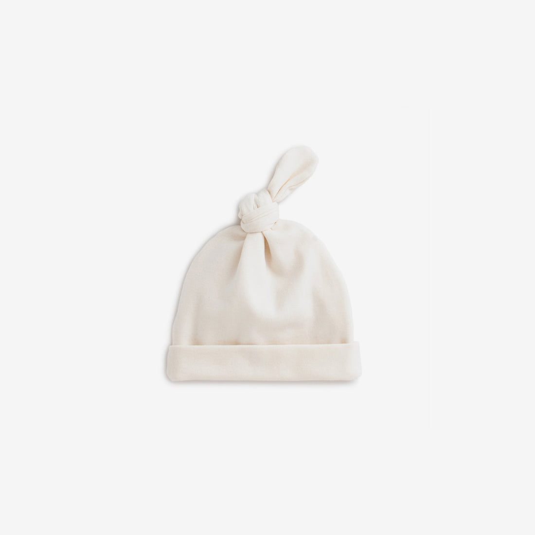 Organic Jersey Knotted Baby Hat - Natural