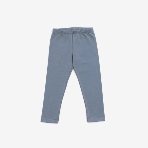 Organic Jersey Leggings - Slate Blue