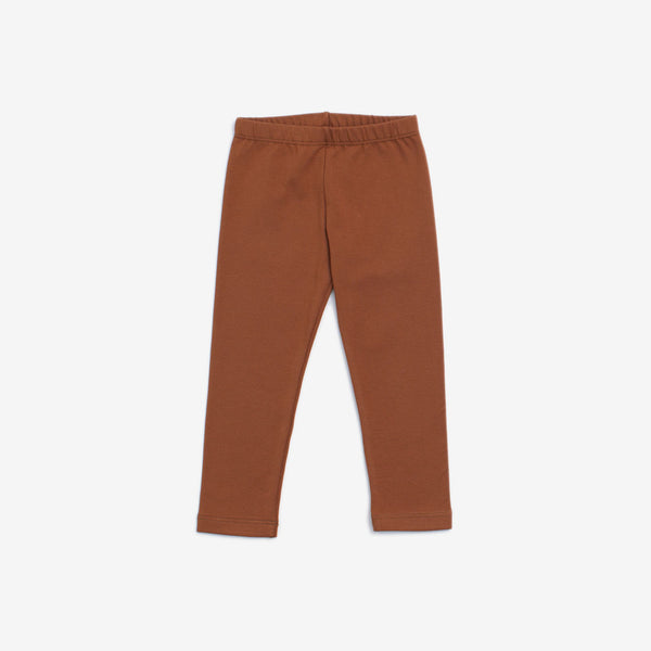 Organic Jersey Leggings - Chestnut
