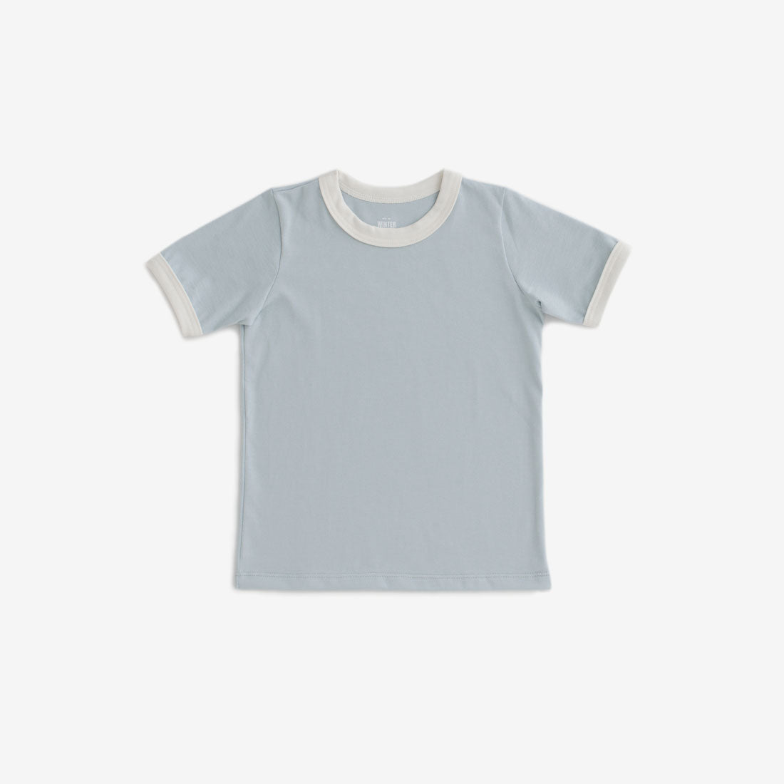 Organic Jersey Ringer Tee - Pale Blue