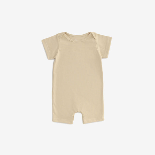 Organic Jersey Summer Romper - Yellow