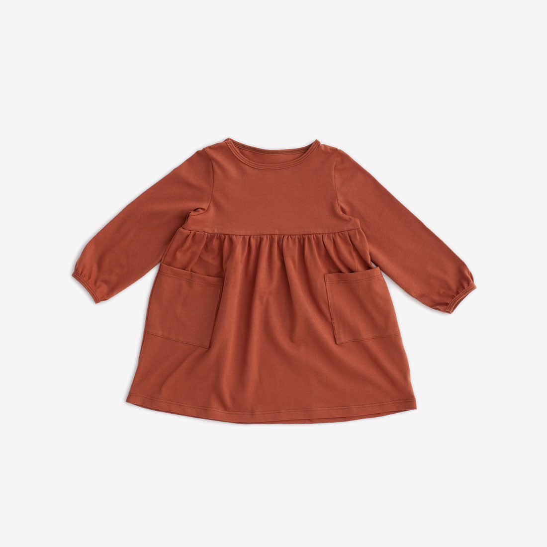 Victoria Organic Dress - Chestnut
