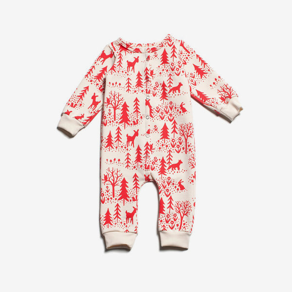 Winter Scenic Organic French Terry Jumpsuit