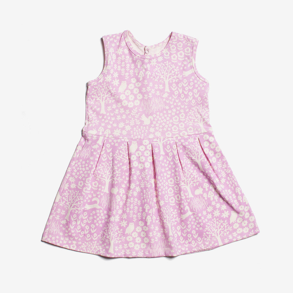 Essex Organic Dress - lavender woodland