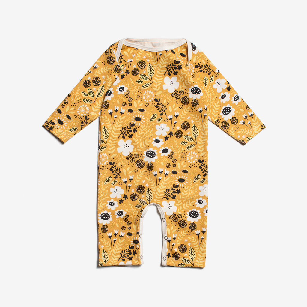 Wildflowers Organic Romper - Yellow