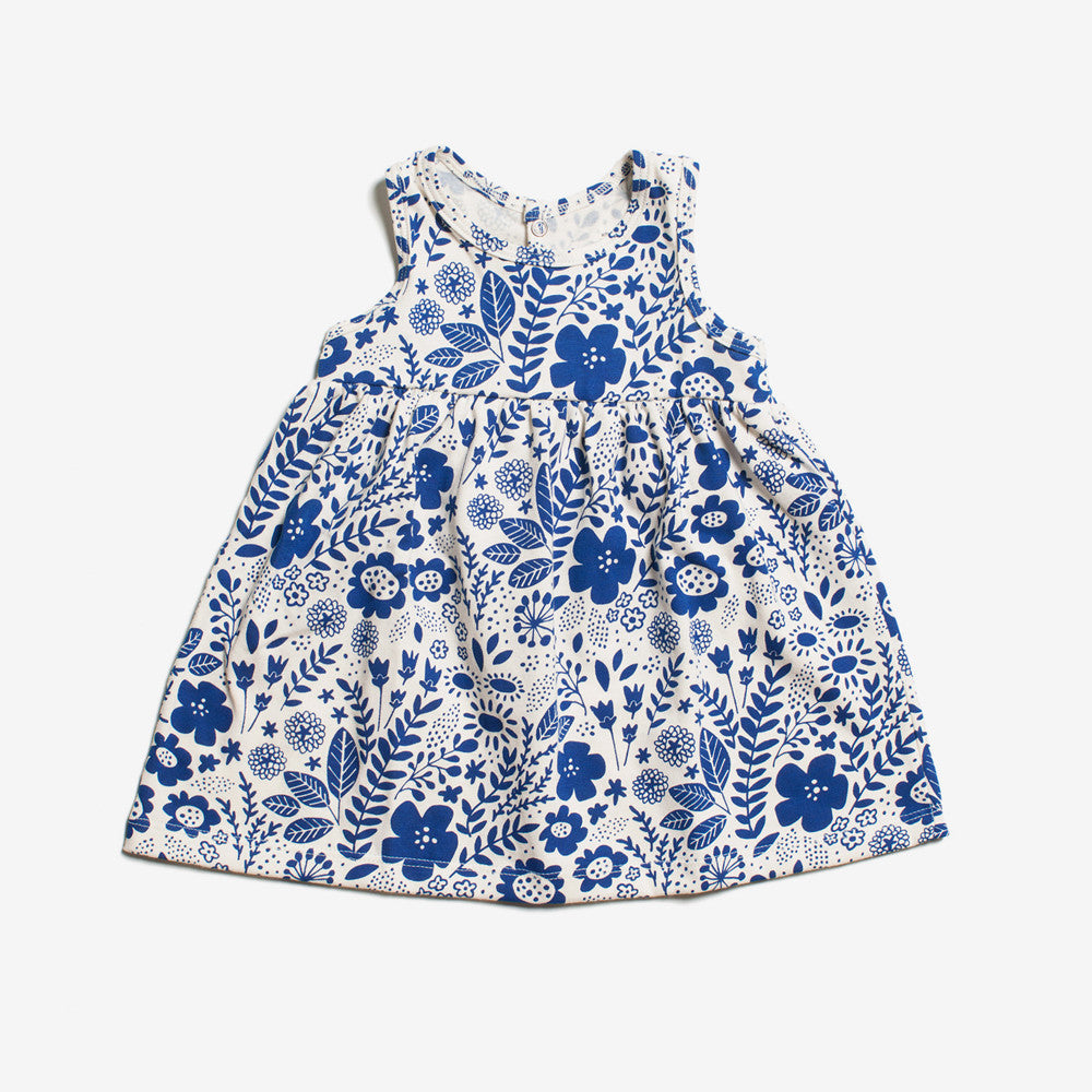 Oslo Baby Dress - blue wildflowers