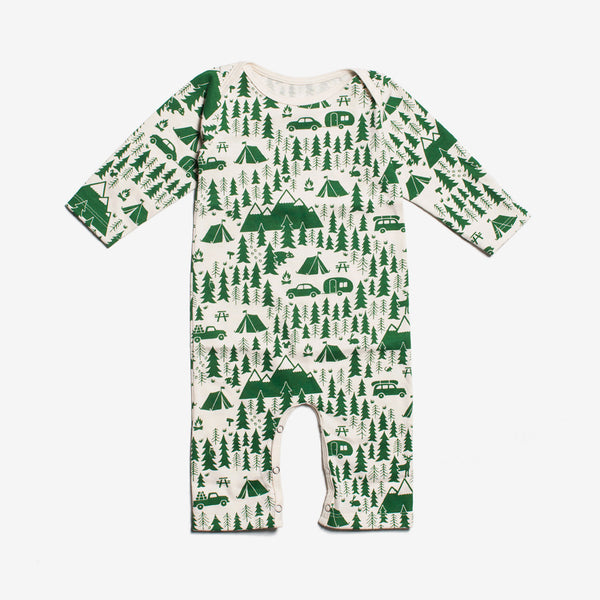 Campground Organic Romper - green