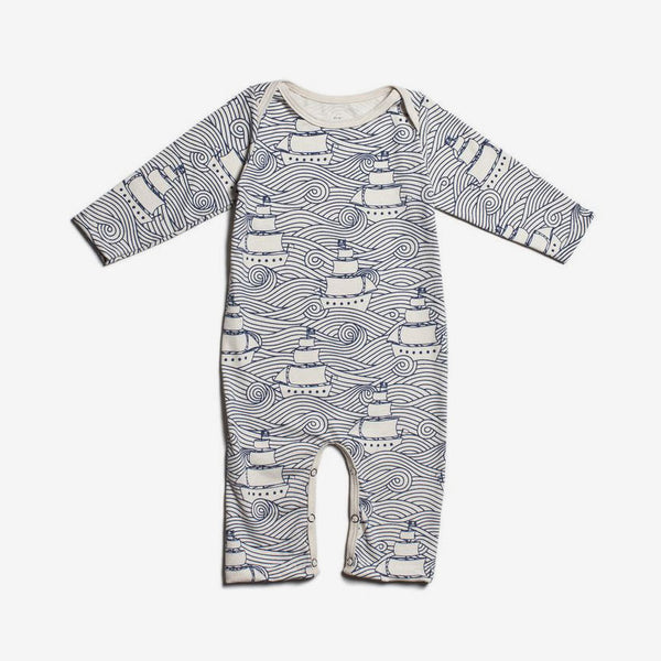 High Seas Organic Romper - Navy