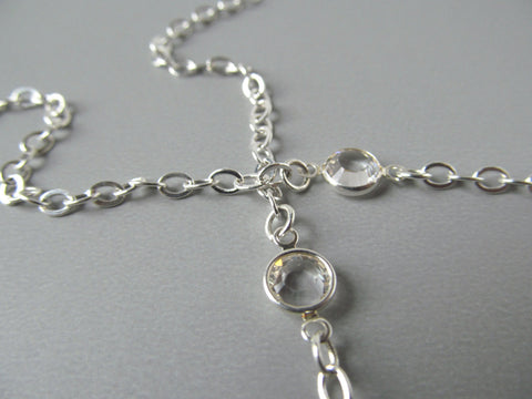 d4c96ab97042 Silver Eyeglass Chain with Clear Swarovski Crystals