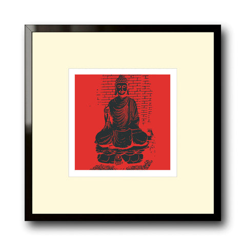 Buddha in Black and Red