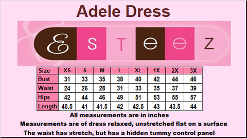 Adele Tummy control Fit and flare dress