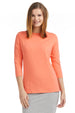Esteez ¾ Sleeve Cotton Lycra RELAXED FIT Layering Shirt for WOMEN – CORAL