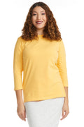 Esteez ¾ Sleeve Cotton Spandex RELAXED FIT Layering Shirt for WOMEN - COLORS