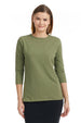 Esteez ¾ Sleeve Cotton Spandex RELAXED FIT Layering Shirt for WOMEN – OLIVE