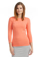 Esteez ¾ Sleeve Cotton Spandex SNUG FIT Layering Shirt for WOMEN - CORAL