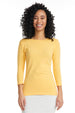 Esteez ¾ Sleeve Cotton Spandex SNUG FIT Layering Shirt for WOMEN - MANGO