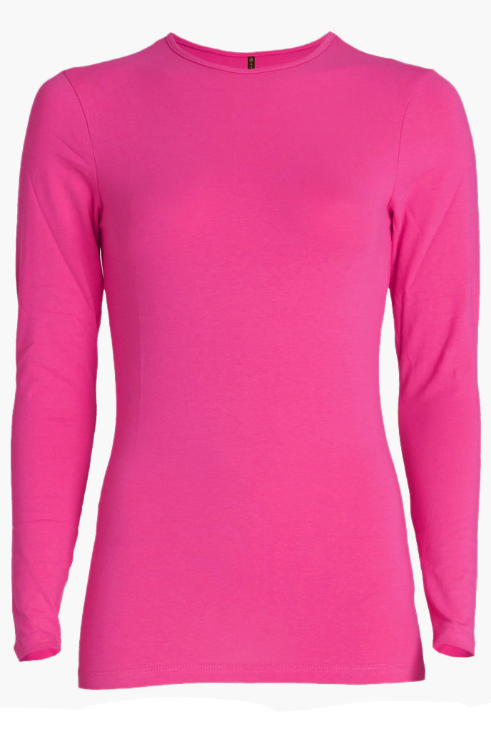 Esteez Long Sleeve Cotton Lycra 'RELAXED FIT' layering shirt for WOMEN