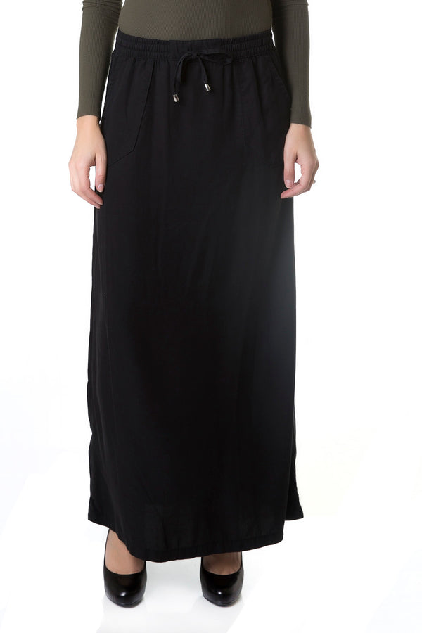 Esteez ATLANTA skirt - Denim Maxi Skirt for Women 100% Tencel - BLACK