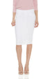 ESTEEZ BROOKLYN SKIRT - Below the knee Jean Skirt for women - WHITE